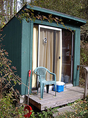 This is Retreat Hut #2, in the Retreat Hut Fie...