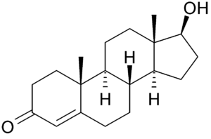 Chemical Structure of Testosterone.